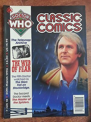 Doctor Who Magazine Classic Comics Issue 18 Vintage Dwm Web Of Fear Telesnaps