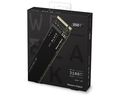 WD 250GB M.2 2280 SSD NVMe PCIe High-Performance WDS250G2X0C Gen3 8 Gb/s Black