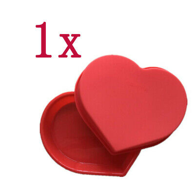 1x Big Heart Shape Cake Mold Silicone Mold Candy Chocolate Bakeware Random Color