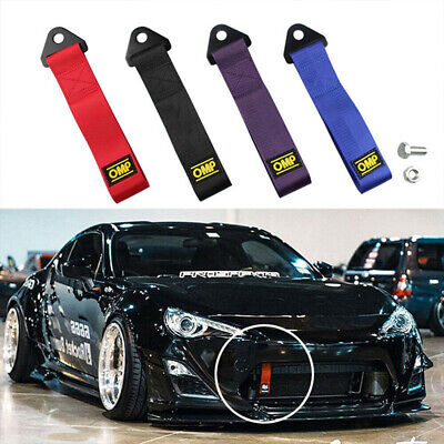 1pcs High-Strength Racing Car Tow Strap Set for Front Rear Bumper Towing Hook