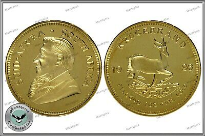 RESTRIKE Krugerrand South Africa 1oz Fine Gold Plated Proof Coin Copy 1967-2016