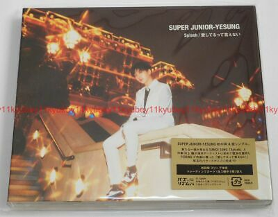 New SUPER JUNIOR-YESUNG Splash First Limited Edition CD DVD Sleeve Card Japan