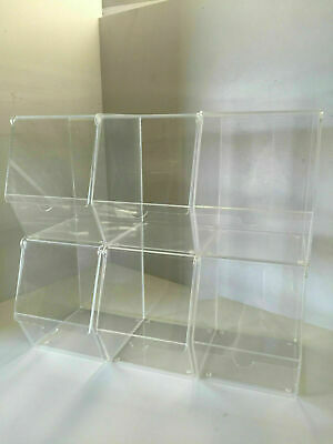 Acrylic Pick n mix / condiment storage display pack of 6 individual bins