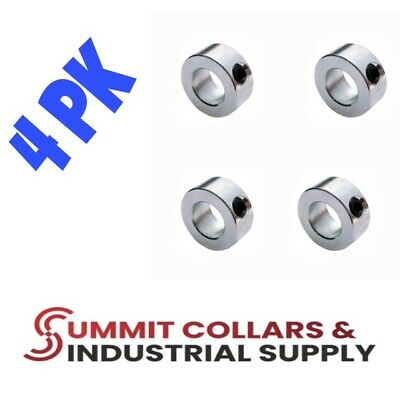 "5/8""set shaft collar, zinc plated. (Qty 4) Free standard shipping!"
