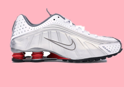 best service 4735c 5288d NIB Nike Womens Shox Gravity R4 White Red Metallic 6-