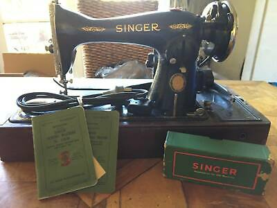 Antique Singer Sewing Machine with Centennial Badge
