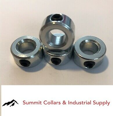 "7/8"" bore set shaft collar, zinc plated. (Qty 4) Free standard shipping!"