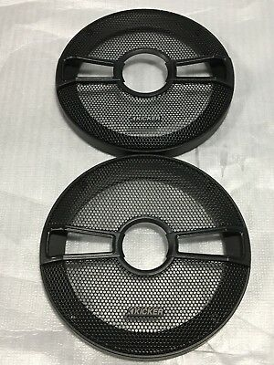 2 PAIRS OF KICKER  6.5 OR 6 1//2  SPEAKER GRILLS COVERS ONLY CSC MODEL FOR CSS