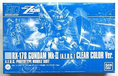 BANDAI HGUC 1/144 RX-178 Gundam Mk-II AEUG clear color ver. limited model kit