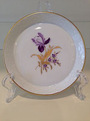 Hochst Hand-Painted Porcelain Purple Floral Coaster Made in Germany New