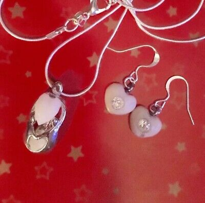 SALE 💜BREAST MILK💜mum&childrenPENDANT+EARINGS Milk Hearts(See Del Time)