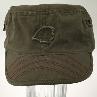 58e9f93b872 RACING CAP RC  4 Men s Brown Embroidered Bill Baseball HAT Zip Pockets One  Size