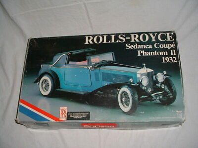 Vtg POCHER 1932 ROLLS ROYCE SEDNACA COUPE PHANTOM II 1/8 Scale Made in Italy