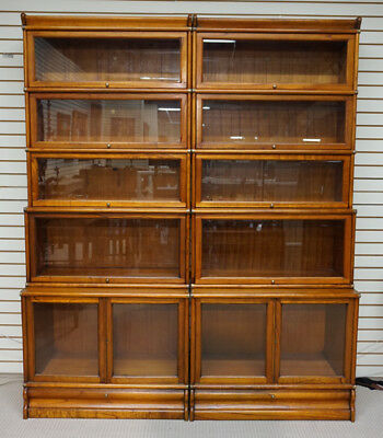 Beautiful Barrister stacking bookcase showcase 2 units wide