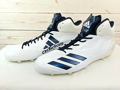 outlet store 3d367 df22e Men Size 16 White Navy Blue Adidas Adizero 5 Star 6.0 Mid Football Cleats  B42485