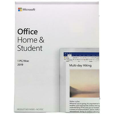 Microsoft Office Home and Student 2019 Mac (1-User License, Product Key Code)