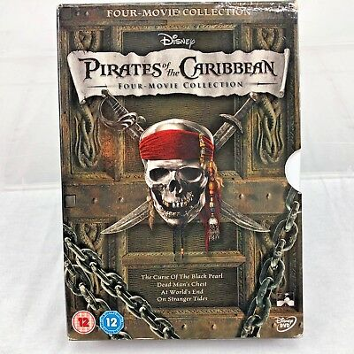 Pirates of the Caribbean 1-4 DVD Collection Box Set 1 2 3 4 UK REGION 2