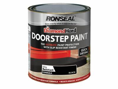 Ronseal - Diamond Hard Doorstep Paint Black 750ml