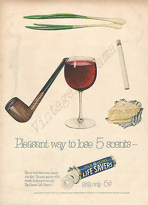 Life Savers Pep-O-Mint Original 1953 Vintage Print Advertisement - Peppermint