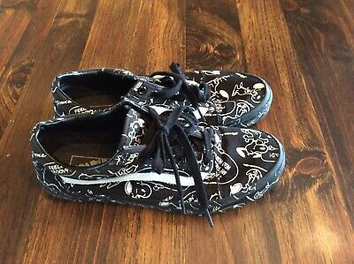 aa15a6a3260bfe Vans Peanuts Edition Limited BLACK SNOOPY OLD SKOOL with box Size 9 Men s