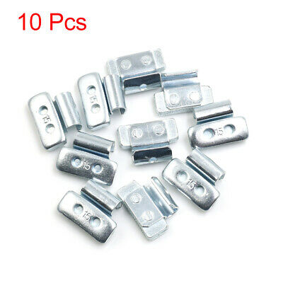 15g Clip-on Metal Tyre Wheel Balance Weights for Motorcycle Car 28 x 21mm 10pcs