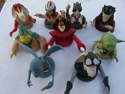 Lot of 9 Star Wars Episode 1 KFC/Taco Bell/Pizza Hut Figures Lid Cup Toppers