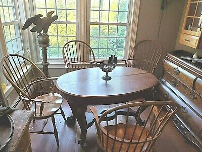 4 BOW BACK WINDSOR oak ARM CHAIRS vintage S BENT BROS used DELIVERY POSSIBILITY