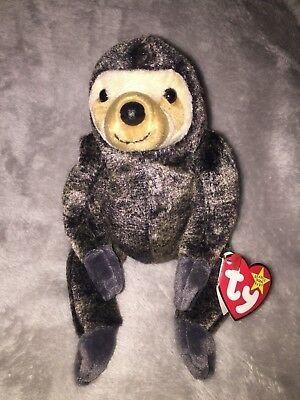 b54274e7f1b New Mint Condition 1999 Ty Beanie Babies Collection Slowpoke The Sloth Tag