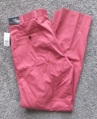 NWT BROOKS BROTHERS MEN 36 x 32 SALMON CHINO PANTS COTTON FITZGERALD FIT GOLF