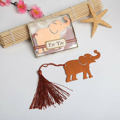 Retro Elephant Bookmark With Tassel Animal Pattern Book Marker Reader Gifts D