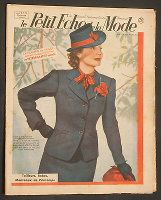 'echo De La Mode' French Vintage Newspaper Spring Issue 3 March 1940