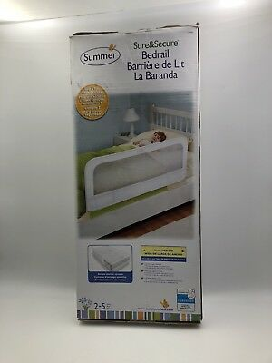Summer Infant Sure and Secure Bedrail, White