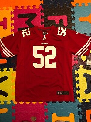 271097f1bf8 NFL Patrick Willis San Francisco 49ers Nike Game Home Youth Jersey L 14 16 -