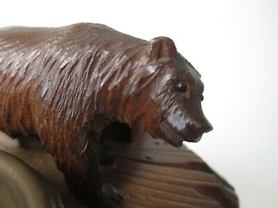BLACK FOREST Adirondack cigarette MUSIC BOX bear MECHANICAL