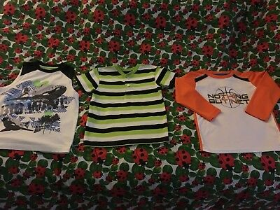 Kid boy beautiful 3 knit shirts mix match size 5T Op Healthtex Garnimal