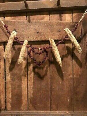 Primitive Christmas Garland Early Look Homestead Dried Cob Cranberries