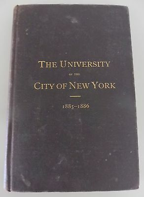 1885-1886 The University of the City of New York: Catalogue & announcements