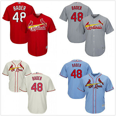 38d14f019 Men s St. Louis Cardinals  48 Harrison Bader CoolBase Jersey Red Gray Cream