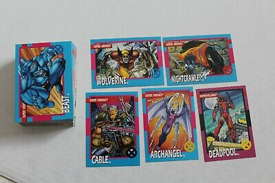 1992 Impel First Series Marvel Trading Card Set 1-100 Wolverine Deadpool