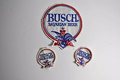Anheuser Busch Bavarian Beer Employee Driver Vintage Patch. lot of 3 patches. #4