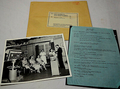 1956 COLD WAR TV SCRIPT - Atomic Bomb - Fallout Shelters - USSR Nuclear Attack