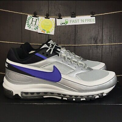a17a5e8205 Nike Air Max 97 BW Skepta Metallic Silver Purple Violet AO2406 002 New Size  12