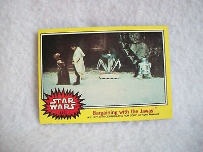 Star Wars Series 3 (Yellow) Topps 1977 Trading Card # 147 Bargaining With Jawas