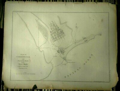 Original PLAN of CONSTITUCION US Navy Astrl Expidition 9x11.5 circa 1800s