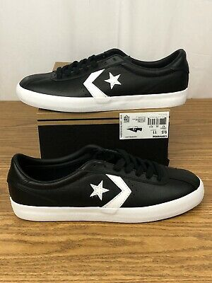 Converse Men/'s BREAKPOINT OX  SMOOTH  LEATHER BLACK 157776c SIZE 13 NEW