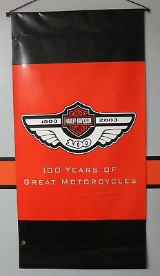RARE Harley Davidson Authentic Double Side 100th Anniversary Parade Route Banner
