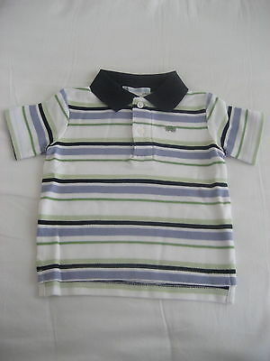 JANIE AND JACK BOYS STRIPED PIQUE POLO SHIRT SIZE 12-18 MONTHS New with Tags