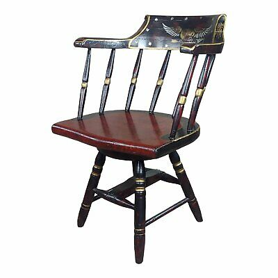 Antique Painted Captain Chair with Federal Eagle -c1900s
