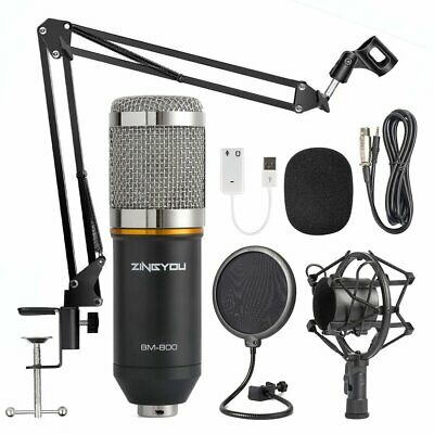 Condenser Microphones Bundle, BM-800 Kit With Adjustable Suspension Scissor Arm