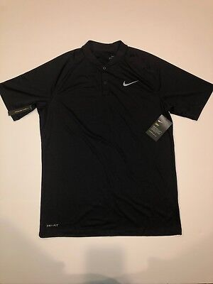 768bdac7 New Men's Nike Dry Momentum Black Standard Fit Golf Polo 929142-010 Medium